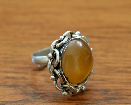 ring with a yellow stone from India photo