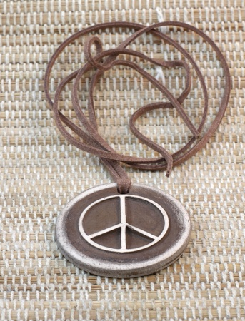 clay pendant pacifist handmade the symbol of peace photo