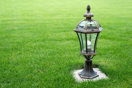 garden lamp: garden lamp on the grass lawn