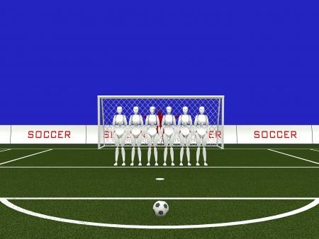 free kick ,football or soccer Imagens