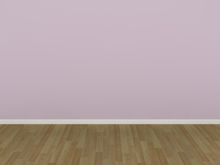 pink wall in a empty room  photo