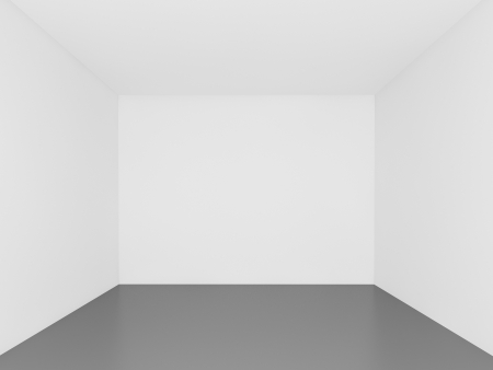 muro bianco, stanza vuota, interior 3d