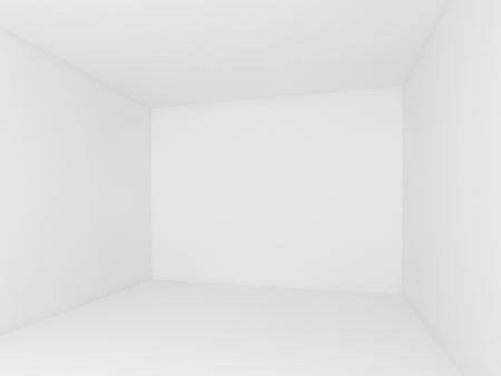 white wall,empty room,3d interior  photo
