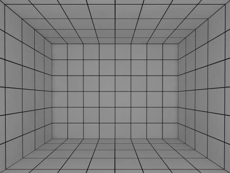 gray space with  perspective grid , 3d photo