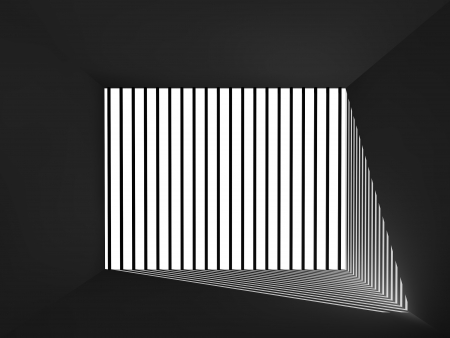 depress: light and shadow  in the room , 3d interior
