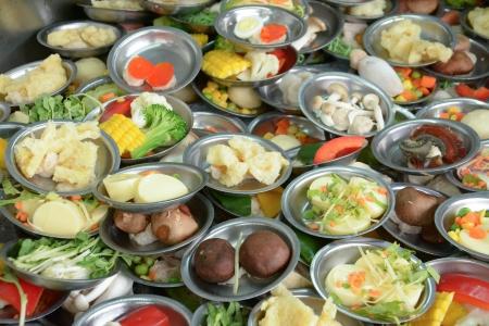 alumnos en clase: Dimsum fresca comida china en el restaurante