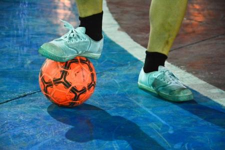 gioco futsal Archivio Fotografico