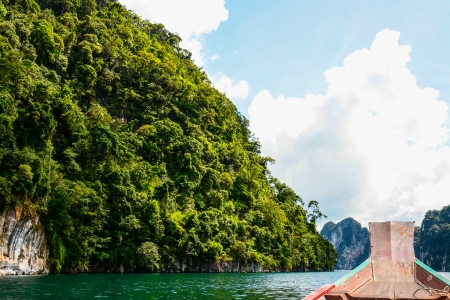 Cheow Lan lake, Khao Sok National Park, Thailand photo