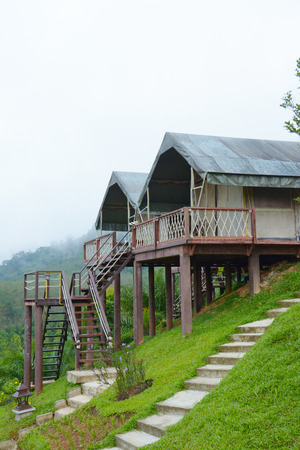home on hill  in Khao Sok National Park, Southern Thailand photo