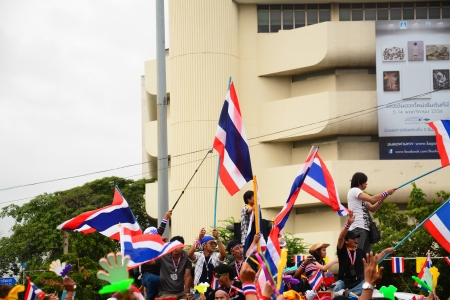 rightwing: Thai Anti-Government Protesters in Bangkok  ,Thailand  ,  Nov 24 2013