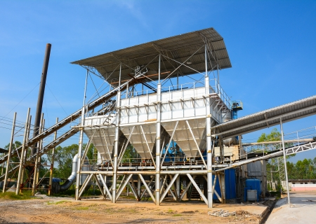 An industrial cement processing facility photo