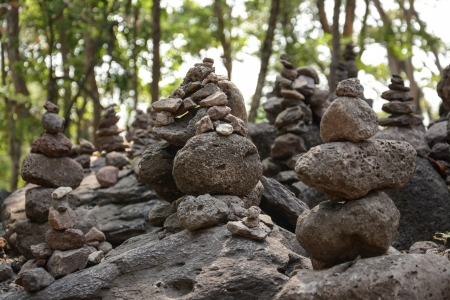 Stone Stacked  ,Panomrung historical park, Thailand  photo