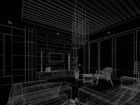 sketch design of interior living Stock Photo - 24519273