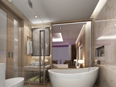 bathroom interior ,3d render photo