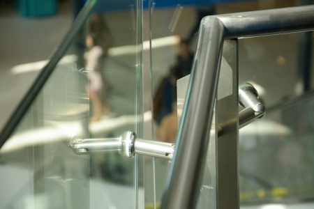 hand rail: detail of modern hand rail