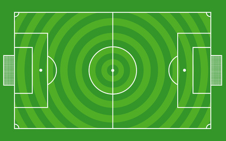 Top view of soccer field or football field  Vector