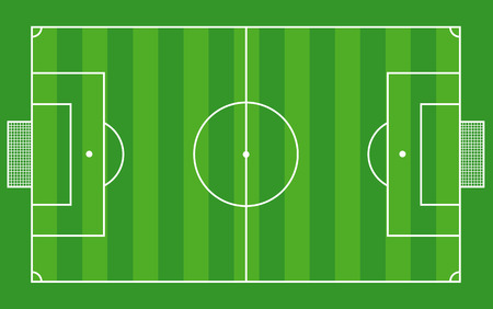 Top view of soccer field or football field - Vector illustration  Ilustracja