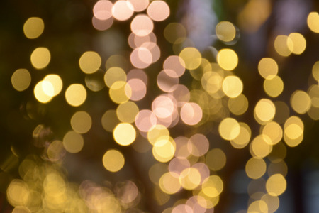 gold light of bokeh background  photo