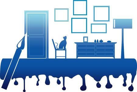 vector illustration of painting inter room Stock Vector - 26052667