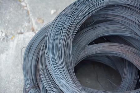 metal wire on concrete floor photo