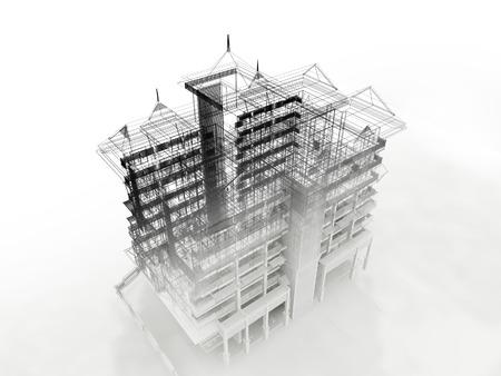 disegno astratto schizzo di edificio
