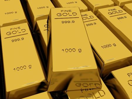 Many Gold bars or Ingot  photo