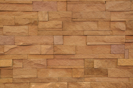 pattern of modern style design decorative real stone wall photo