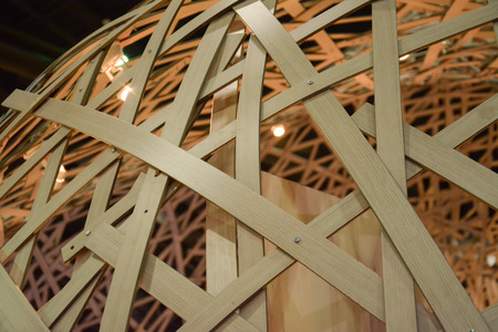 entrance arbor: Bamboo  truss  structure  Stock Photo