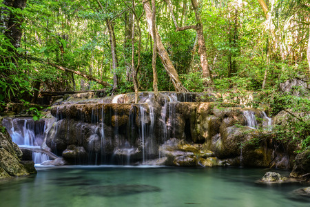 Erawan Waterfall in Kanchanaburi, Thailand photo