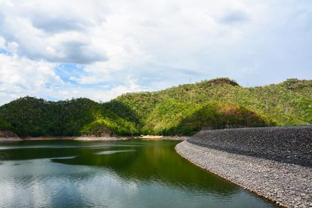 Srinakarin dam at kanchanaburi of Thailand photo