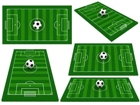 soccer field or football field  photo