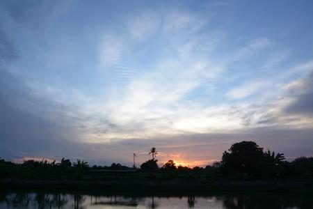 samutprakarn: silouette sunset at twilight ,Samutprakarn Thailand