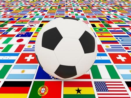 Football on nation flag