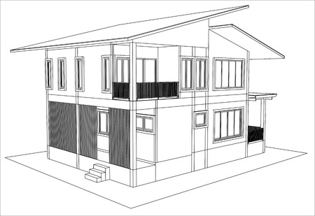 Captivating Sketch Design Of House,vector Stock Vector   29315814