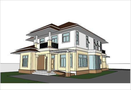 sketch design of house,vector  Vector