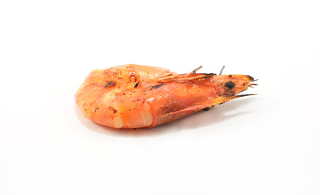 Grilled shrimp isolate on a white background   photo