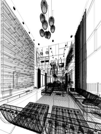 disegno astratto disegno di vita interiore Archivio Fotografico