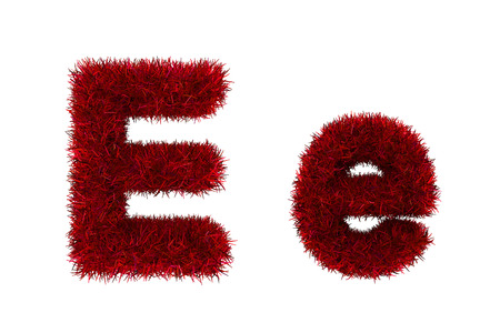 red grass: red grass letters, upper and lowercase