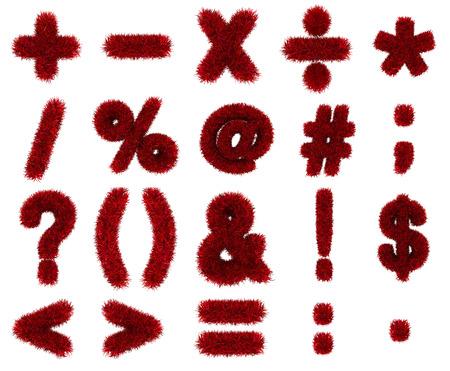 red grass: red grass symbols mathematics Stock Photo