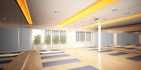 yoga room,3d interior design