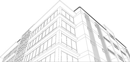 sketch design of building Vector
