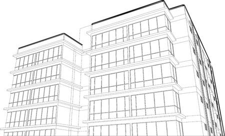 buiding: sketch design of buiding,vector