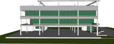 architecture plans: sketch design of building