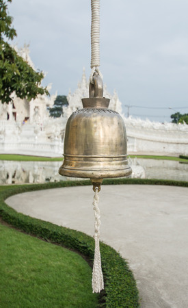 bell in Wat Rong khun is known among foreigners as the White Temple in Chiangrai province Thailand