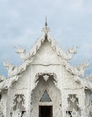 Wat Rong khun is known among foreigners as the White Temple in Chiangrai province Thailand