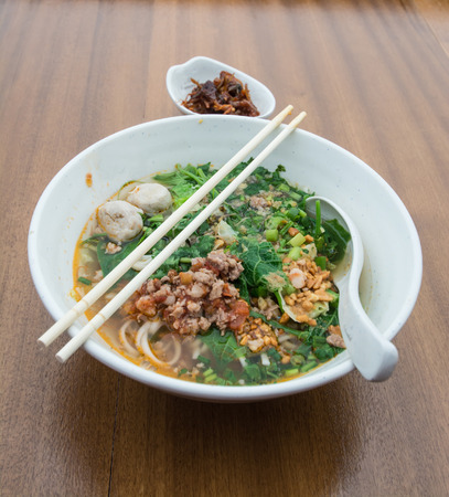 thai noodle soup: Thai Noodle Soup with Meat