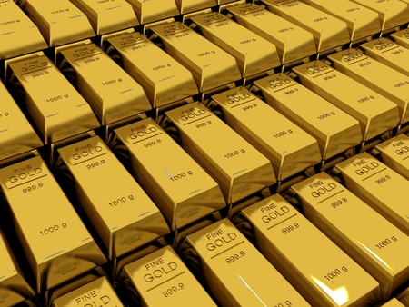 goldbar: Stacked gold bars