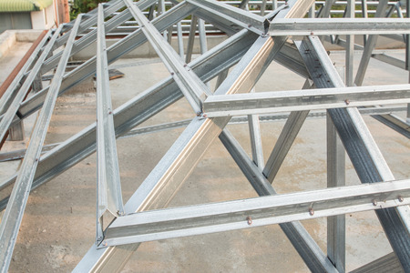 metal structure: metal roof structure