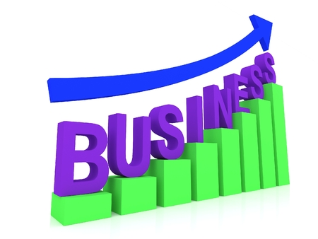 Business graph photo