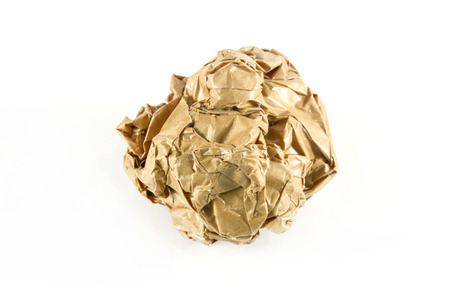 wastrel: close-up of crumpled paper ball Stock Photo